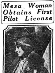 A newspaper clipping from Feb. 9, 1930, about aviation