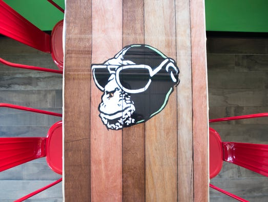 A dining table at Bad Monkey Sup Shop at 58th St. in Ocean City.