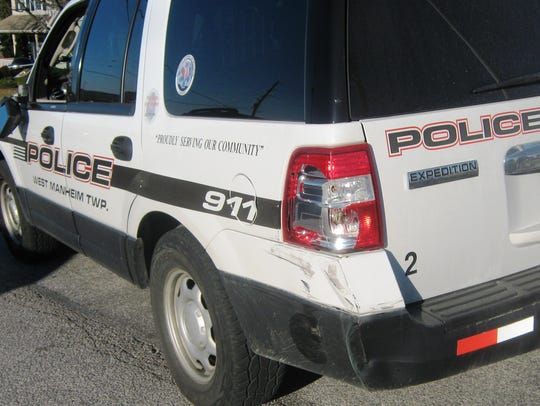 The cruiser's driver side sustained damaged to the