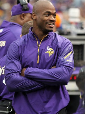 RB Adrian Peterson played one game for the Vikings in 2014.