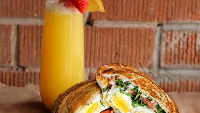 A breakfast sandwich at Zookz Sandwiches.