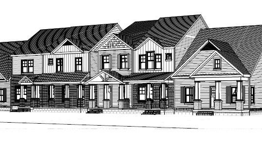 A rendering showing townhomes Robert Pullen Jr. is about to start building at the Ashland Place community at Ashland City Highway and Drakes Branch Road.