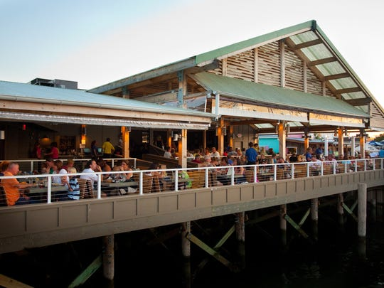 At Jack Baker's Wharfside in Point Pleasant Beach, diners have a view of the Manasquan River.