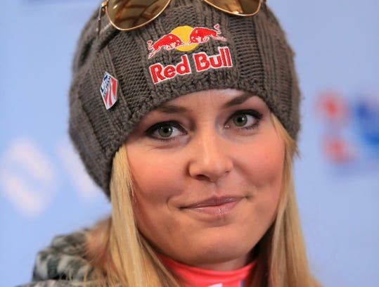 (FILE PHOTO) Skier Lindsay Vonn of the United States has withdrawn from participating in the upcoming 2014 Winter Olympics in Sochi, citing an instability in her injured knee.