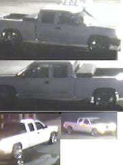 This is the truck used by a suspect in the burglary early Tuesday of two Fifth Ward businesses.