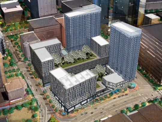 """Rendering of """"Hamilton Green"""" project proposed for"""