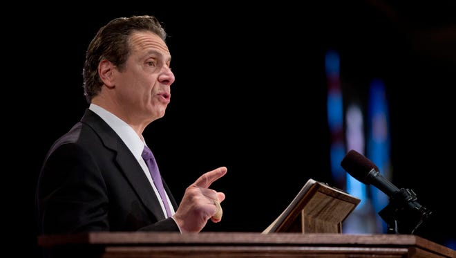 New York Gov. Andrew Cuomo delivers his State of the State address Jan. 13 in Albany.