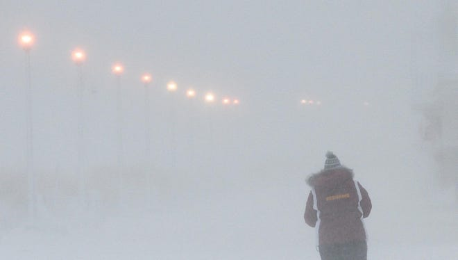 A winter storm Jan. 3, 2014, brought 4 to 5 inches of snow to Rehoboth Beach and Dewey Beach, Del., as well as almost whiteout conditions.