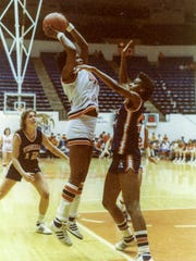 Barbara Kennedy- Dixon, seen during her playing years for the women's basketball team, was a Clemson University athletics legend. She passed away July 23, 2018 after battling cancer. She was 58.