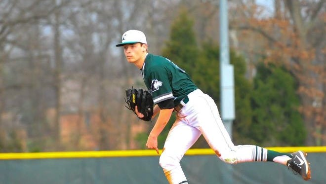 North senior left-hander Kade Fleming delivers a pitch during a game earlier this season.