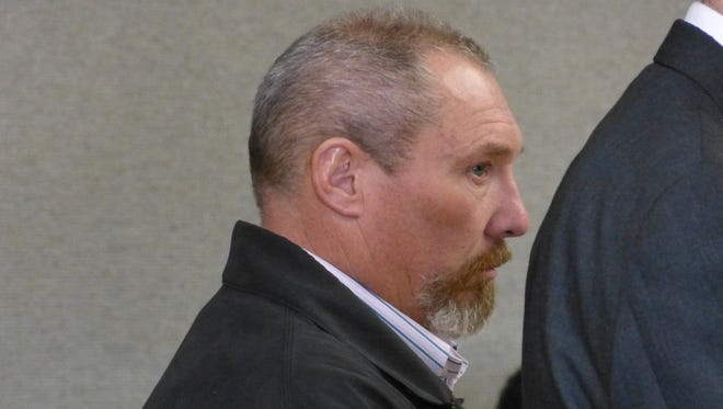 James Carwford is shown during one of his Shasta County Superior Court appearances earlier this year.