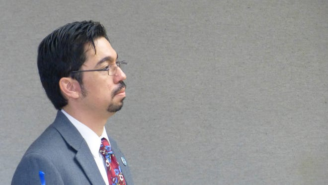 Jason Olson shown in Superior Court during one of his earlier appearances.