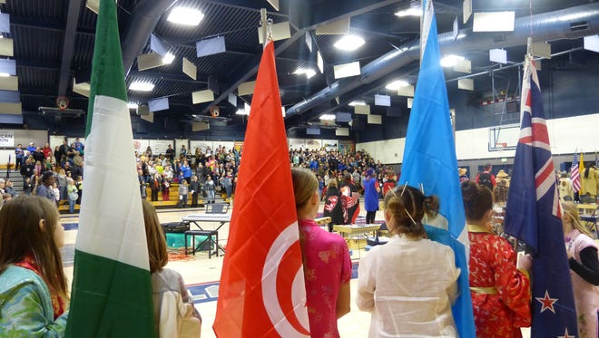 People gather at the 14th annual Multi-Cultural Celebration at Central Valley High School on Saturday.