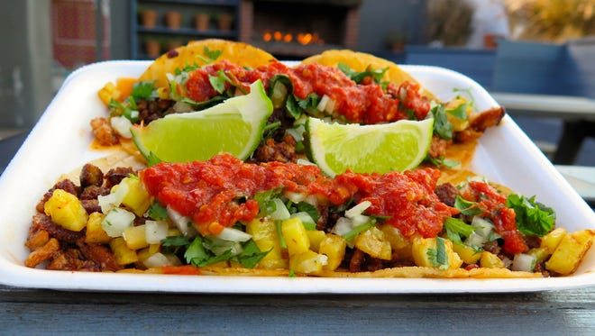 The tacos al pastor at Fools Gold, 2700 N. Mesa St., are $1 each every day.