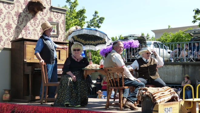 """Participants took the opportunity to dress up for this year's parade theme of """"California's Golden Past."""""""