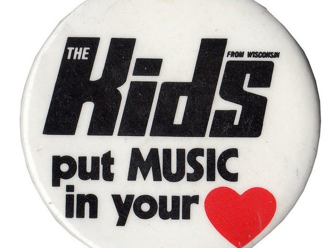 The 1985 Kids from Wisconsin souvenir pin