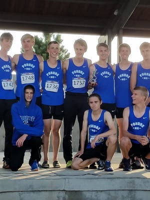 The Poudre boys cross country team finished second at Friday's Thornton Invitational.