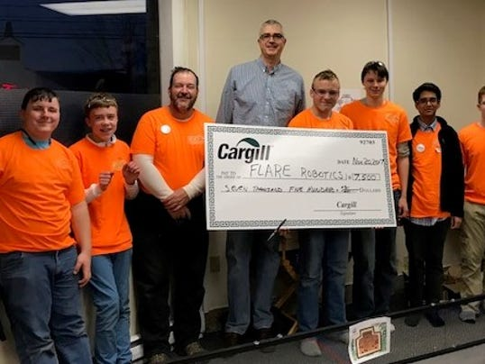 Cargill Inc. donates to robotics education