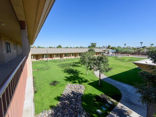 The courtyard at Starfish Place in Phoenix.