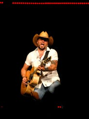 Jason Aldean performs at the YUM! Center. May 08, 2015
