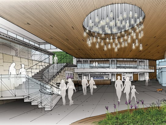 A conceptual drawing the Playhouse in the Park renovations.