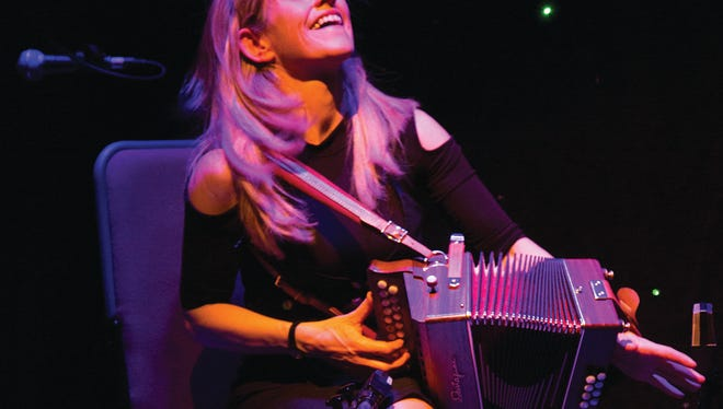 Accordionist Sharon Samson will perform Thursday, March 16 at Pruis Hall.