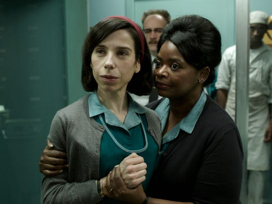 "Sally Hawkins, left, and Octavia Spencer in ""The Shape of Water."""