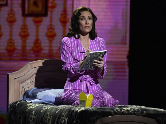 "Laura Benanti performs a scene from ""She Loves Me"" during  the 70th Tony Awards at the Beacon Theatre."