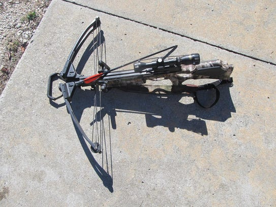 This is the crossbow Dean Shaulis uses when he goes