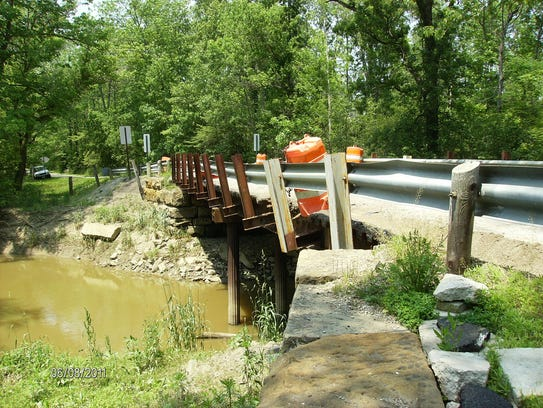 The Geisinger Road bridge had to be closed in 2011