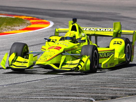 Simon Pagenaud during practice for the KOHLER Grand