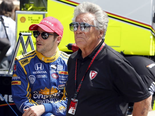 Marco Andretti with his grandfather Mario Andretti