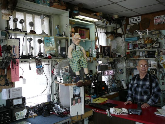 Guy Tesla Boucher's radio and television repair business