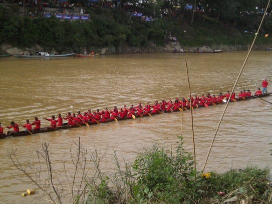 Colorful dragon boats compete for six weeks at the