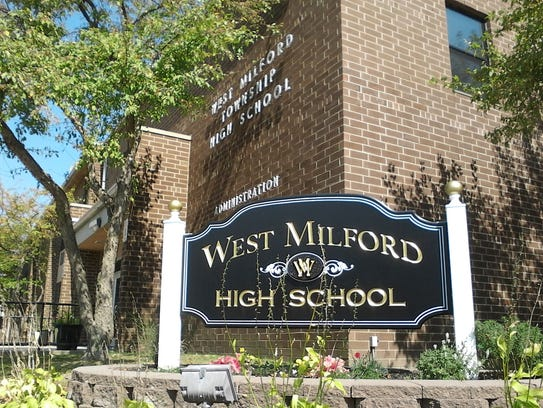 West Milford High School's front entrance as seen on