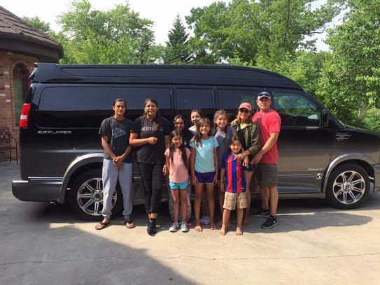 Charles Robinson and his family as they travel the