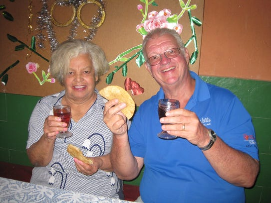 John Otte, right, is shown with his wife, Maria. Otte