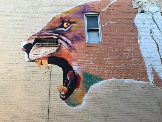 "Rozalia Hernandez-Singh's in-progress mural ""Our Beauty"
