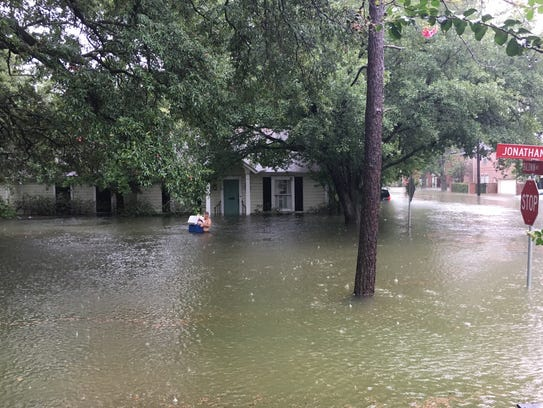 The Bellaire, Texas flooded home and neighborhood of