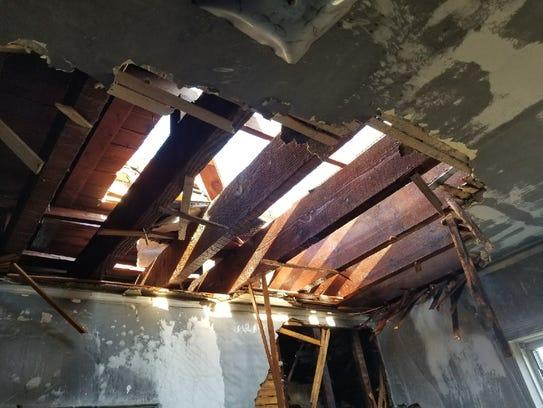 A fire damaged an apartment building at 485 Gramatan