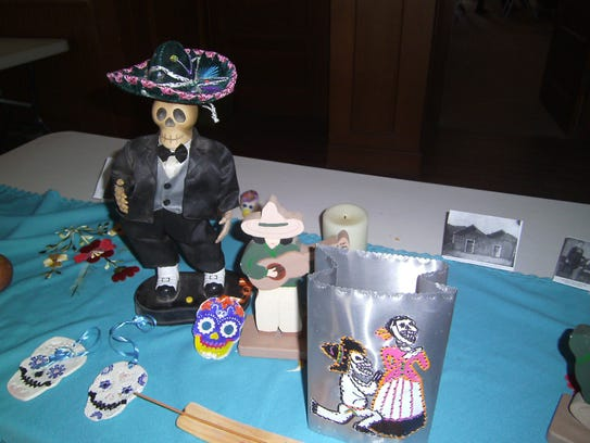 Playful skulls called calaveras are a popular symbol