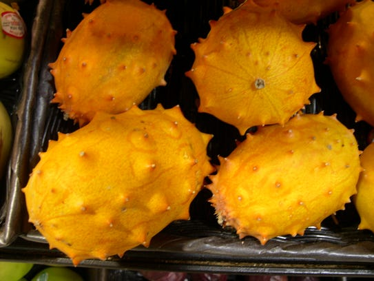 Horned melon is a close relative of the cucumber.