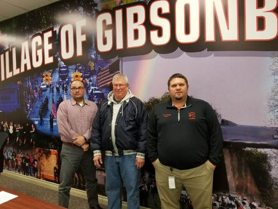 Gibsonburg Mayor Steve Fought, right, with councilman