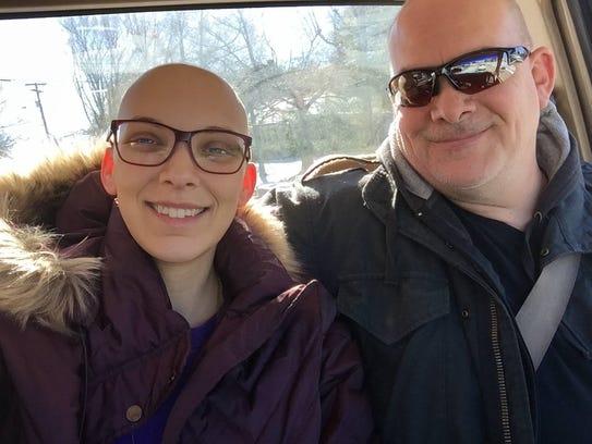 Nichole Dorontich with her dad.