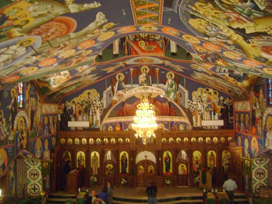 Six iconographers from Belgrade, Serbia worked a total