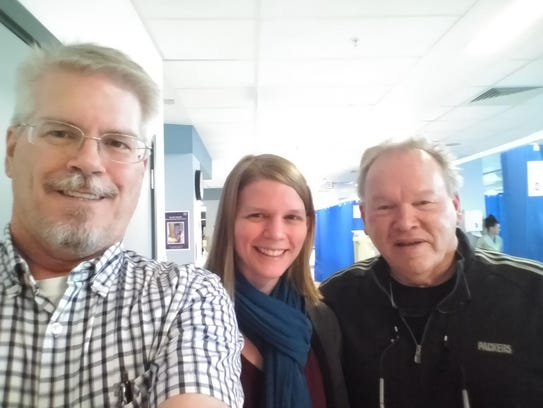 Tim Trower and Beth Trower receive a visit from Rev.