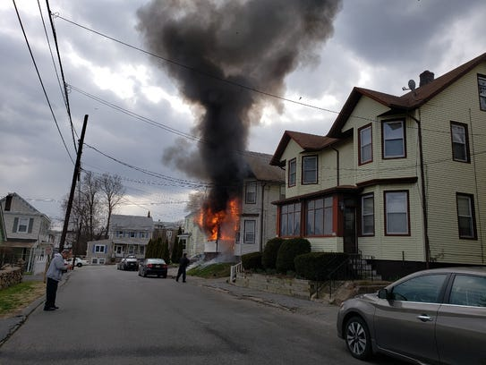 Neighbors witness a fire on Union Street in Boonton
