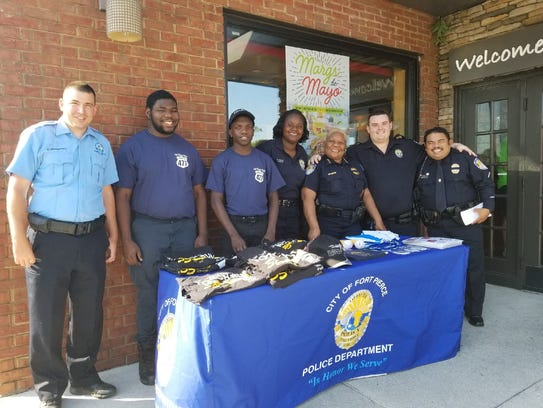 Volunteers from the Fort Pierce Police Department