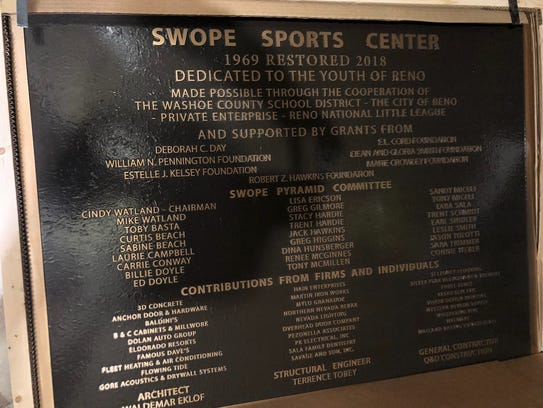 The bronze plaque that will be unveiled at the ribbon