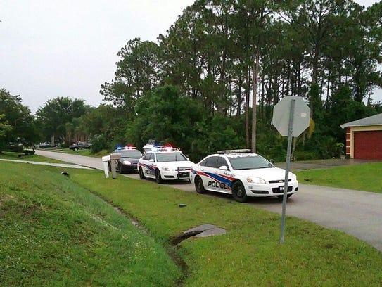 Police o the scene on Rila Street in Palm Bay.